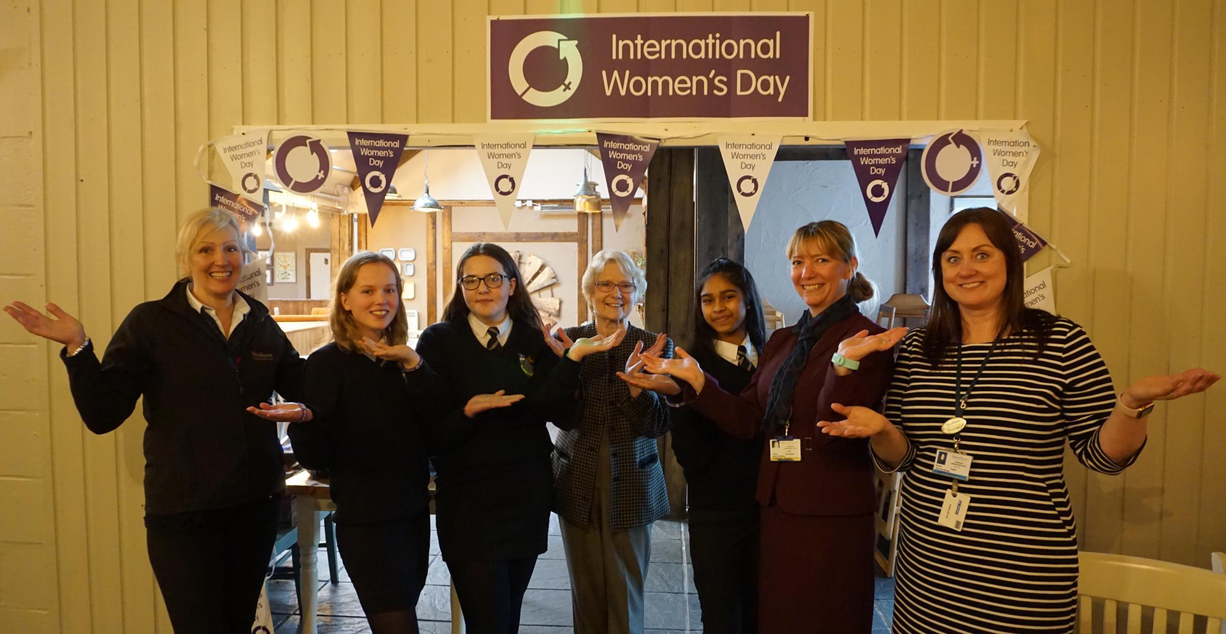 Pupils' International Women's Day visit to Bluestone
