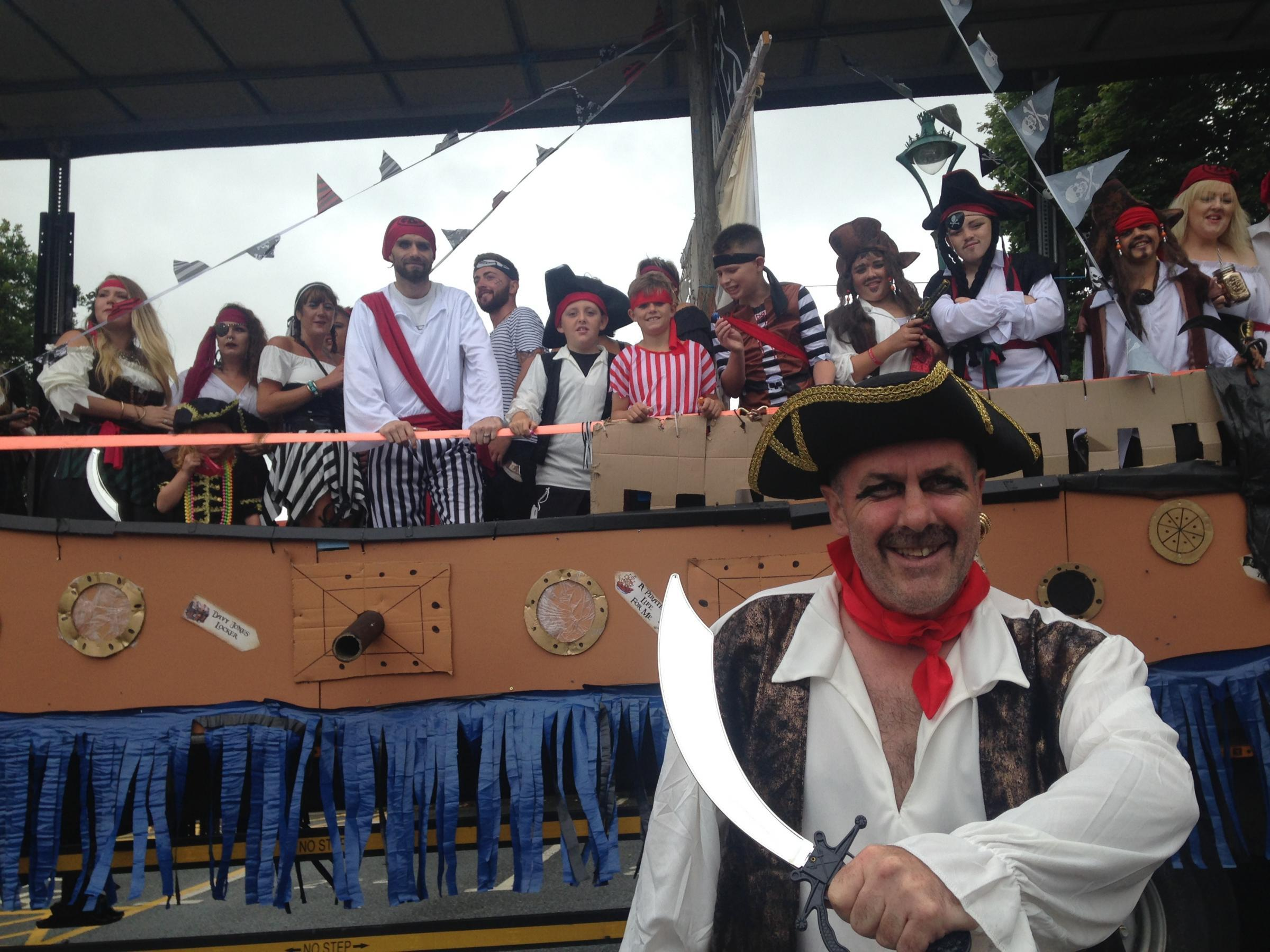 The pirates of Prendergast from last year's carnival.