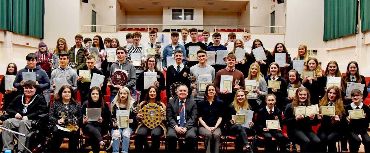 Ysgol Bro Gwaun pupils inspired by astronomy professor, Alis Deason, at awards evening