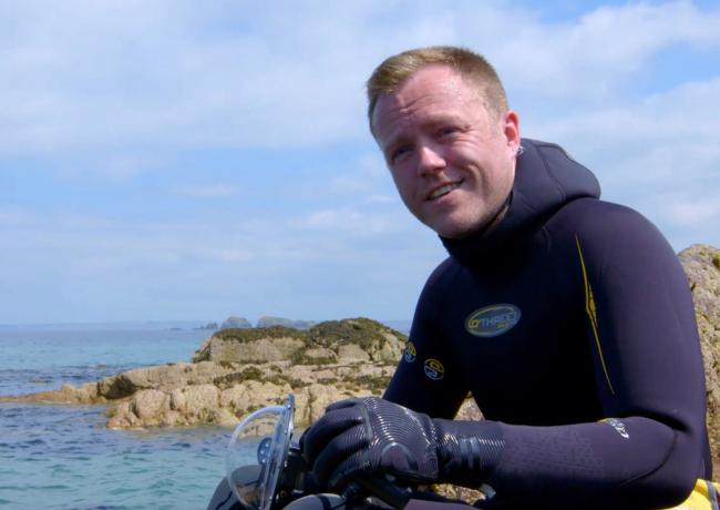 Lloyd Jones, who has filmed spider crabs off the coast of Pembrokeshire for a new BBC series.