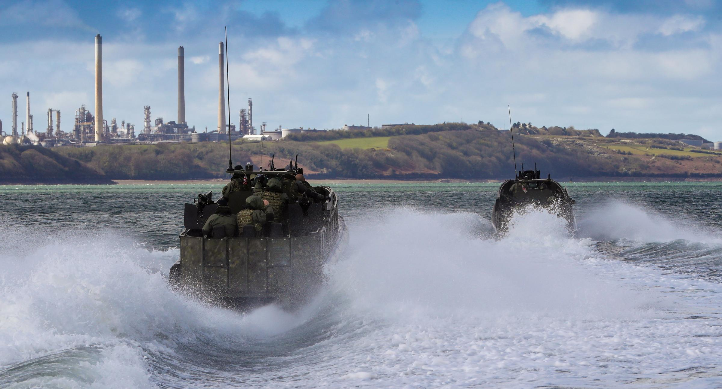 'Fire and fury' training by Royal Marines at Castlemartin
