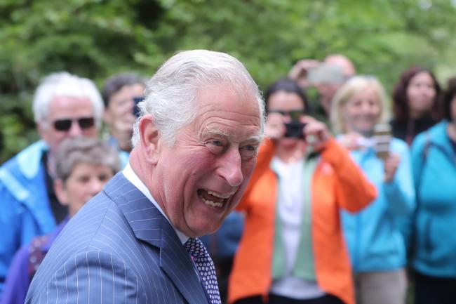 The Prince of Wales during a visit to Glendalough Monastic Settlement