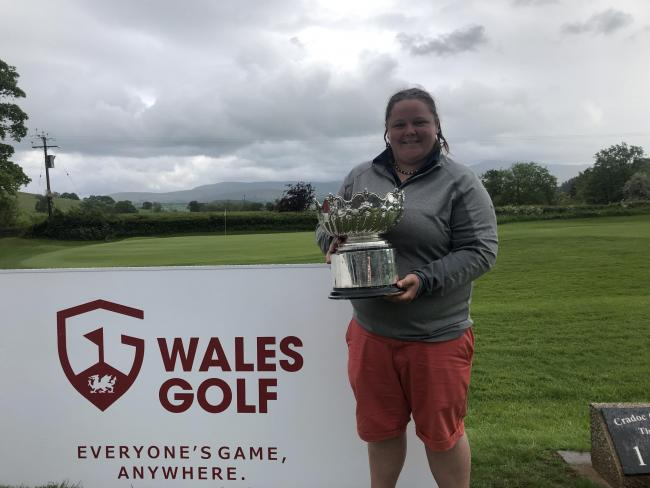 Welsh Ladies champion Becky Harries.