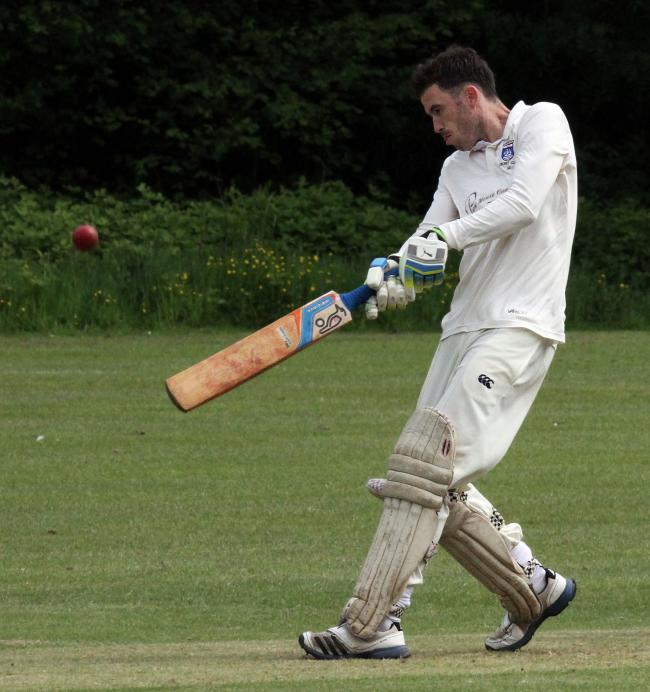 Nick Cope cracks a six in his 54. PICTURE: Susan McKehon.