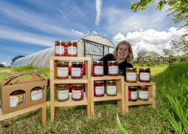 Anne-Marie Harries grows as many of the ingredients as possible for Farmers Food at Home's award-winning preserves