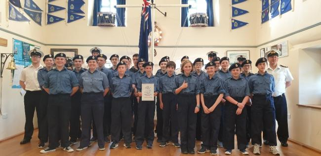 Fishguard Sea cadets are Pride in Pembrokeshire award winners.